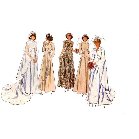 Wedding dress bridesmaid dress sewing pattern Style 1787 Bust 34