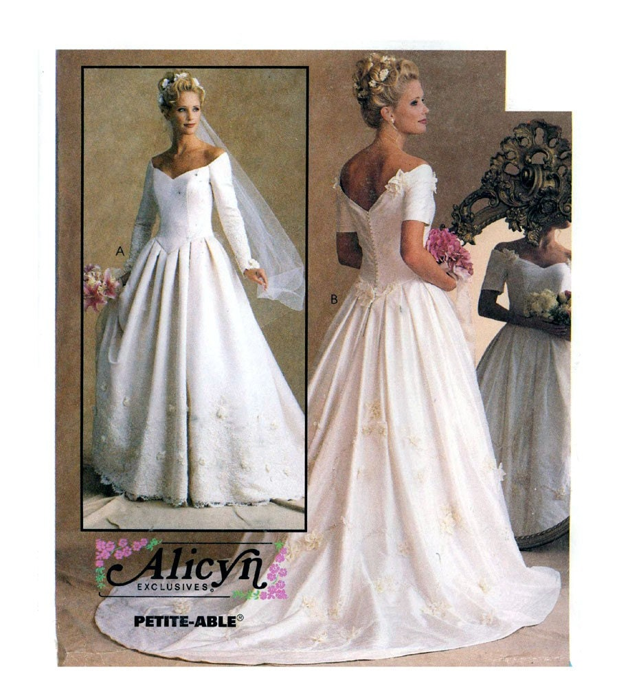 wedding dress sewing pattern mccall 39 s 8563 bust 32 1 2 to
