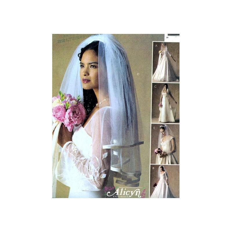 Wedding Veils And Headpieces Patterns: Wedding Bridal Veils McCalls 3508 Sewing Pattern Uncut