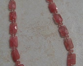 Stunning Cherry Quartz and Ocean Jasper Necklace