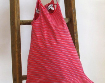 Tote Bag Paper and Plastic Alternative Bag/Tote  Red Stripes