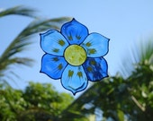 Flower Blue- Family Window Art