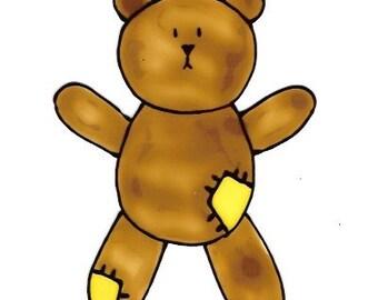 Teddy\/Brown - Family Window Art