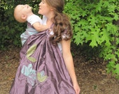 Signature Series Release - Reversible double layer Dupioni Silk Ring Sling - Magnolias in the Park w/DVD
