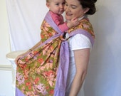 Ring Sling Double Layer Baby Carrier -DVD included - Cone Flowers in Purple