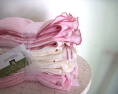 Set of 4 - Airy OVERSIZED Ivory and Pink Blush Cotton Gauze Receiving Blanket for Lightweight Swaddling - ships free with sling or wrap
