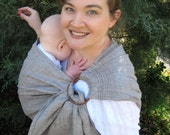 Linen Jacquard Ring Sling Baby Carrier - Natural - DVD included