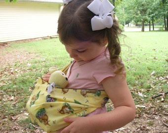 Doll Sling - Children's Toy Pouch - great for imaginative play