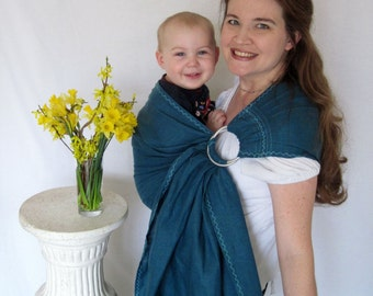Baby Sling Ring Sling Baby Carrier - Regatta 100% LINEN - DVD included - 20 colors in shop