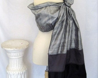 Signature Series  - Silk Sling Baby Ring Sling Carrier - Triple Stack Silk  - Pewter colorway - babywearing for formal events - DVD included