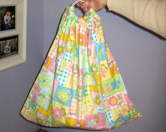 Midwifery Weighing Sling- Perky Pastel Patchwork Flannel - great for photo shoots