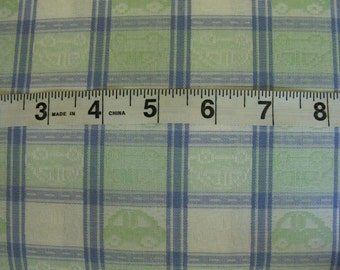 Woven Cotton Fabric 3 yards -nice heft - VW type cars - 60 inch wide - 3 yards