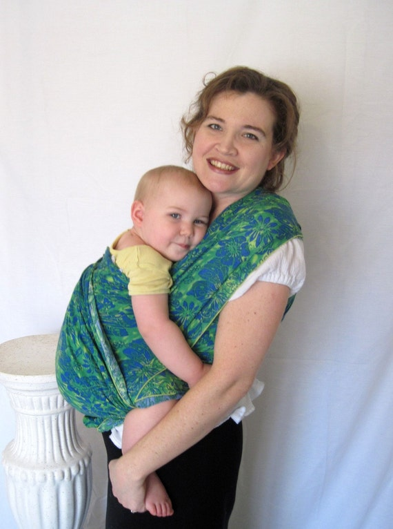 Baby Wrap Sling Carrier - Airy WOVEN w DVD tutorial - non-stretchy super support
