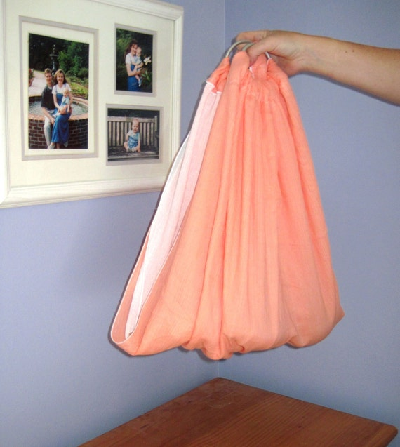 Midwifery Weighing Sling- Coral and White  - great for photo shoots