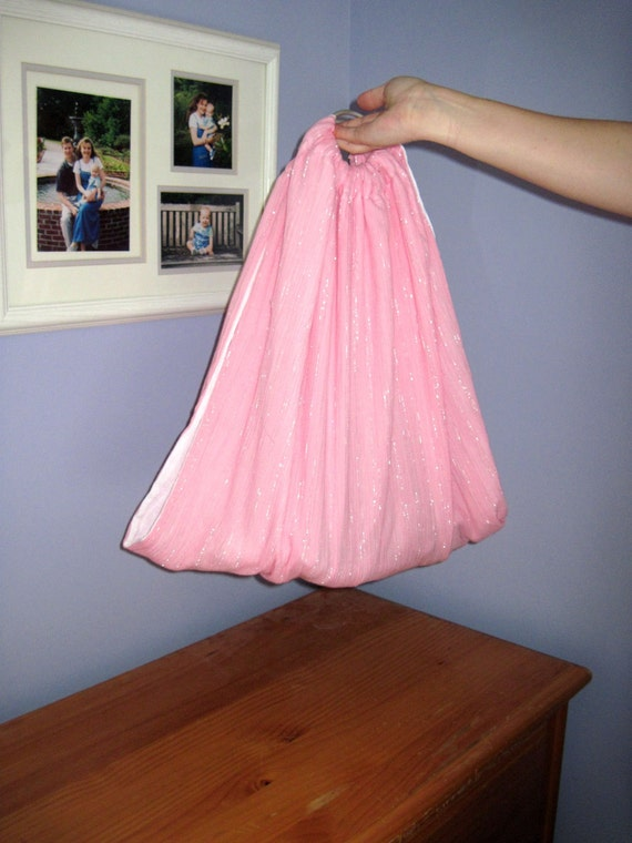 Midwifery Weighing Sling- Pink Sparkle and White gauze - great for photo shoots