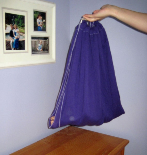 Midwifery Weighing Sling- Royal Purple gauze - great for photo shoots