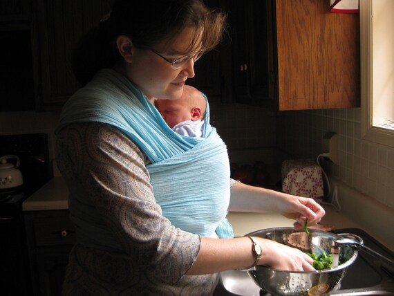 Woven Baby Wrap sling carrier  - Airy Cotton Gauze - DVD - 18 color choices