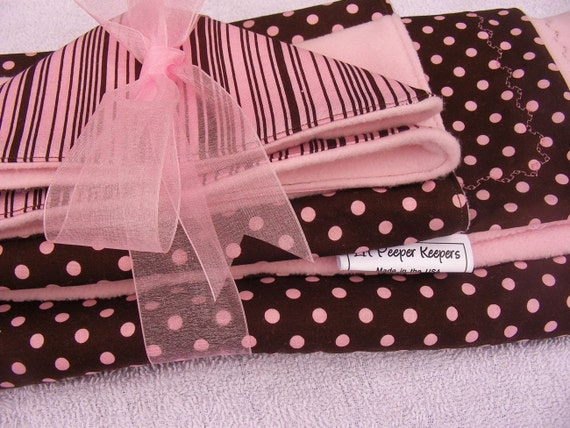Ready to Ship- Gift Set - Stroller Blanket, Burp Cloth, Oversized Reusable Baby Wipe
