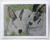 Bunny Rabbit Art Note Cards By Cori Solomon