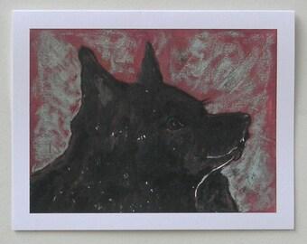 Schipperke Art Note Cards by Cori Solomon