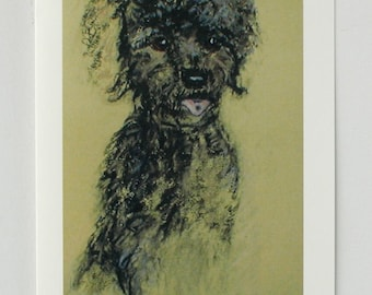 Black Toy Poodle Dog Art Note Cards By Cori Solomon