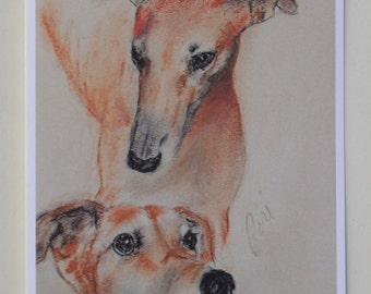 Graciously Greyhound Dog Art Note Cards By Cori Solomon