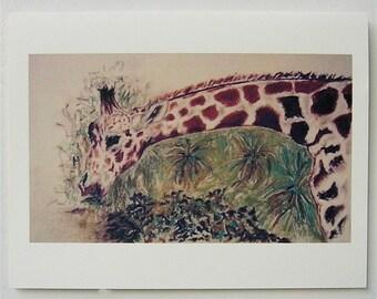 Down To Earth Giraffe Wildlife Art Note Cards By Cori Solomon