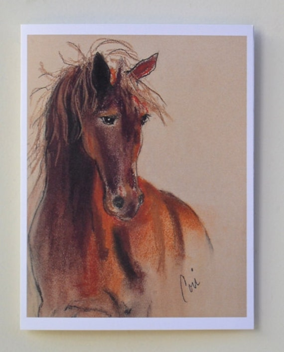 Chestnut Horse Art Note Cards By Cori Solomon