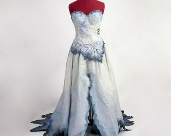 Corpse Bride Costume - Based on Tim Burton movie - Made to Order