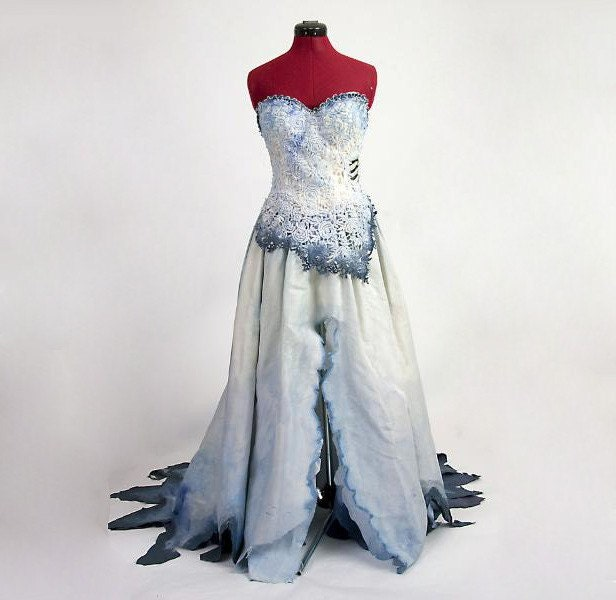 corpse bride costume based on tim burton movie by deconstructress