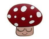 Enamel Mushroom Toadstool Brooch (SALE)