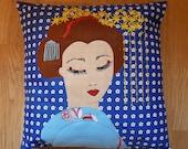 Beautiful Geisha  cushion cover (SALE)