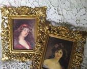 Bohemian Ladies in VINTAGE Florentine FRAMES