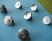 FREE  SHIPPING -- Extra Thin 10 sets of 14 mm Gunmetal Magnetic Snap Closures