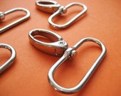 FREE SHIPPING--20 Silver/Nickel Swivel Clasps Hooks with 1 1/2 inch loop end