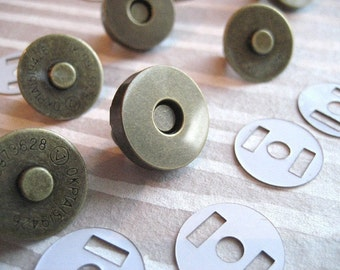 FREE SHIPPING 10 Sets of 14 mm AntiBrass Magnetic Snap Closures