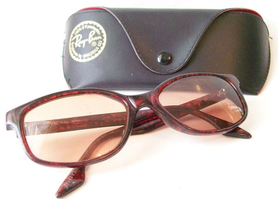 Vintage 1980's Ray Ban Prescription Sunglasses with Case