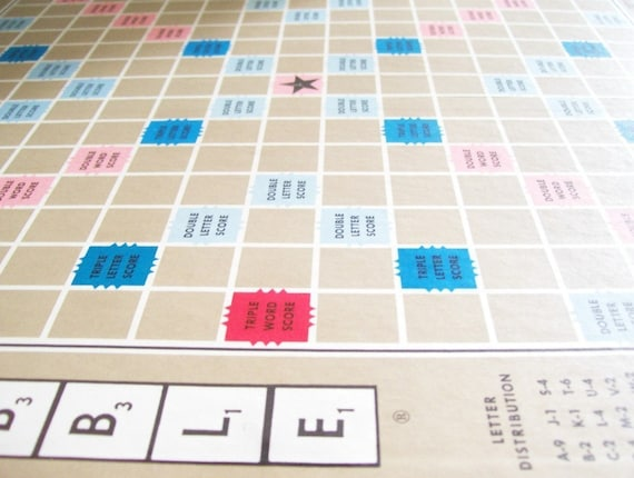 Scrabble Game Board for Altered Art Lot of 2
