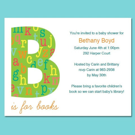 Book Decorations Theme Book Theme Baby Shower or
