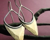 Sterling Silver Bronze Pixie Earrings Shields Mixed Metal Earrings Metalwork Jewelry
