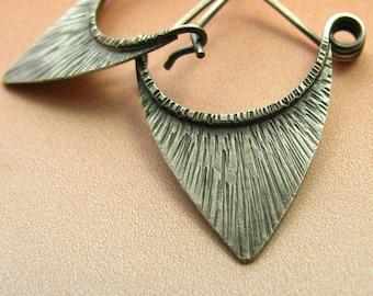 Small Sterling Silver Earrings, Petite Pixie Hoop Earrings, Little Tribal Earrings, Metalsmith Earrings, Rustic Jewelry, Small Silver Hoops