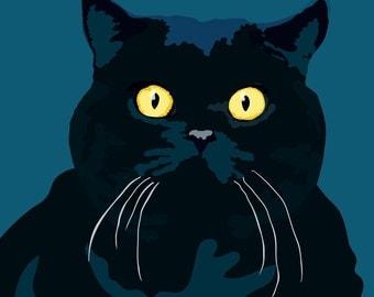 Fat Cat print, 9 x 12.5