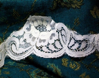 Our Lady Of The 1950s Sunday Church Supper Hidden Steam Punk Goth Lolita Dip Lace 5 yards