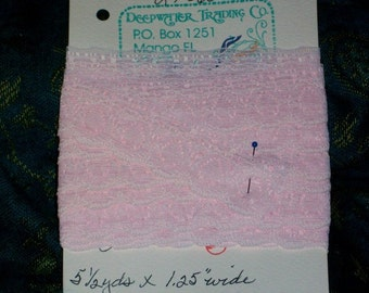 In The Pink Vintage Cluny Edging Lace 5.50 Yards LT 060