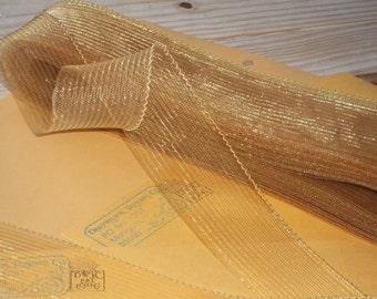 Antique Gold Horsehair Crin Rainbow Collection 2 Inch Hats Fascinators Cuffs Veils Bridal Weddings Communion Yard Antique Gold