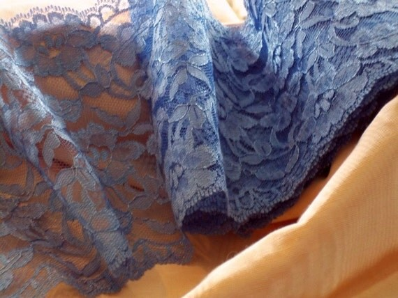 Lavender Blue Dilly Dilly 6 Inch Wide Sateen Shadow Val Lace BTY