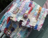 Shabby Quilted Strips Bag  OOAK