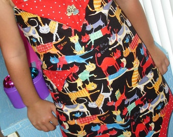 Kitty Kat Little Girl's Apron Price lowered for your little  Sweetie