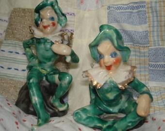 Vintage Ceramic Twin Pixies