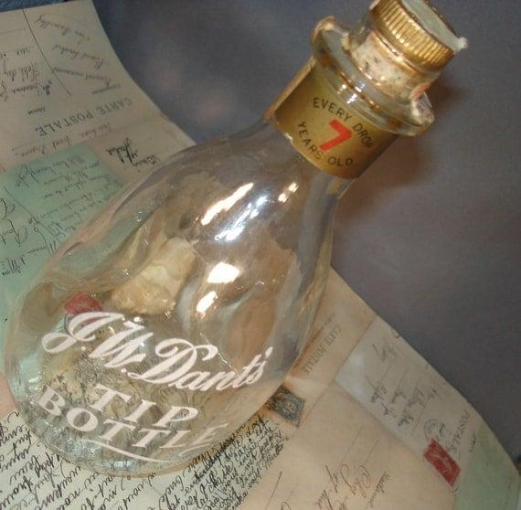 Vintage JW Dant Whiskey Tip Bottle
